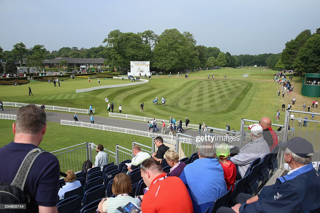 General View of the 1st hole during day three of the BMW PGA Championship at Wentworth on May 28, 2016 in Virginia Water, England.