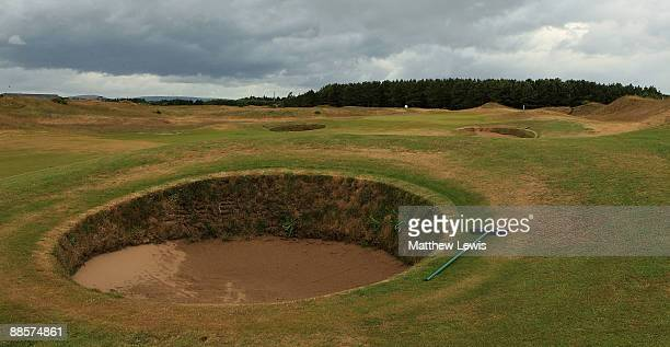 A general view of the 1st hole during the Glenmuir PGA Professional Championship at Dundonald Links on June 18 2009 in Dundonald Scotland