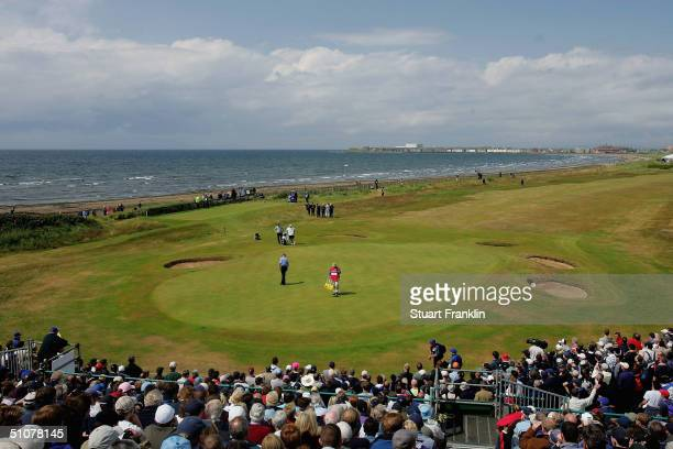 General View of the 1st hole during the third round of the 133rd Open Championship at the Royal Troon Golf Club on July 17 2004 in Troon Scotland