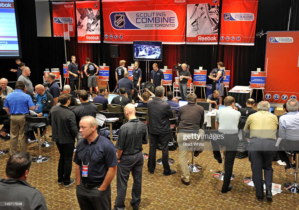 General view of the 2012 NHL Combine June 2, 2012 at International Centre in Toronto, Ontario, Canada.