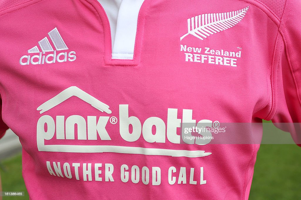 A general view of the 2013 New Zealand referee's strip during a media announcment at Westpac Stadium on February 11, 2013 in Wellington, New Zealand.