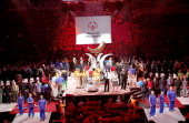 A general view of the 2014 Special Olympics USA Games Opening Ceremony at Prudential Center on June 15 2014 in Newark New Jersey