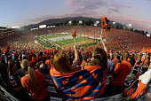 A general view of the 2014 Vizio BCS National Championship Game between the Florida State Seminoles and the Auburn Tigers at the Rose Bowl on January...