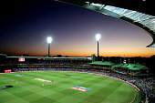 A general view of the 2015 Cricket World Cup Semi Final match between Australia and India at Sydney Cricket Ground on March 26 2015 in Sydney...