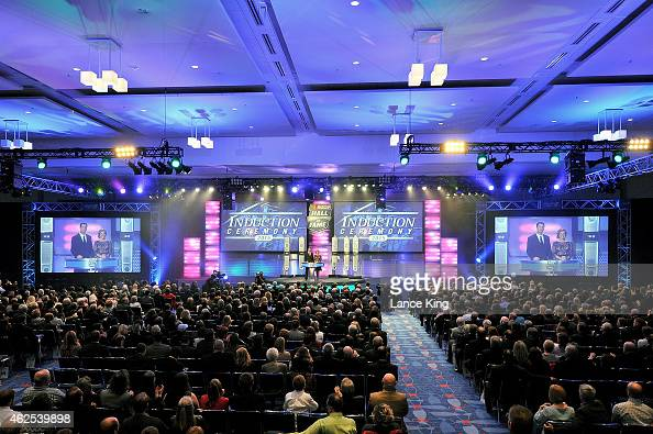 A general view of the 2015 NASCAR Hall of Fame Induction Ceremony at NASCAR Hall of Fame on January 30 2015 in Charlotte North Carolina