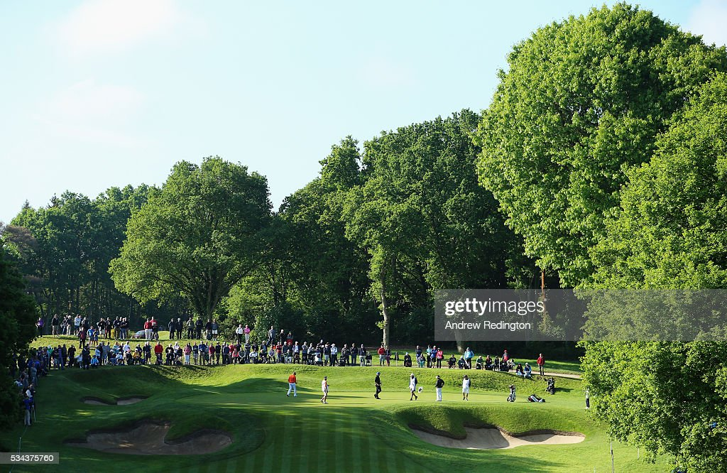 General View of the 2nd green during day one of the BMW PGA Championship at Wentworth on May 26, 2016 in Virginia Water, England.