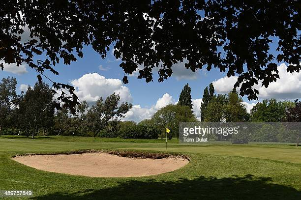 General view of the 2nd green during the Powerade PGA Assistants' Championship Southern Regional Qualifier at Laleham Golf Club on May 12 2014 in...