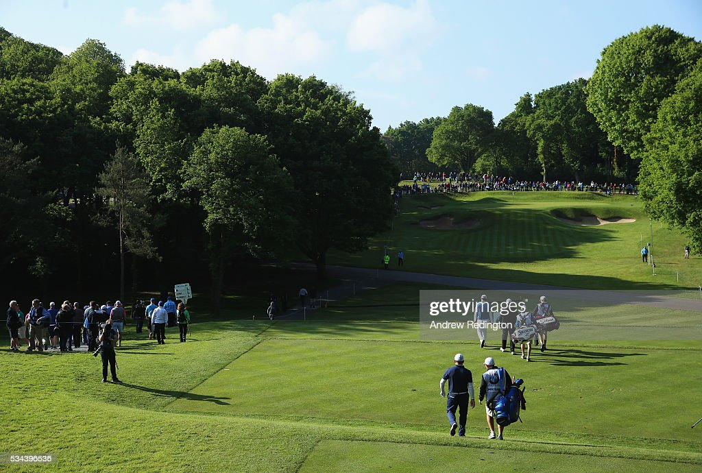 General View of the 2nd hole during day one of the BMW PGA Championship at Wentworth on May 26, 2016 in Virginia Water, England.