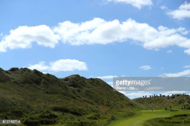 General View of the 2nd hole during day three of the Dubai Duty Free Irish Open at Portstewart Golf Club on July 8 2017 in Londonderry Northern...