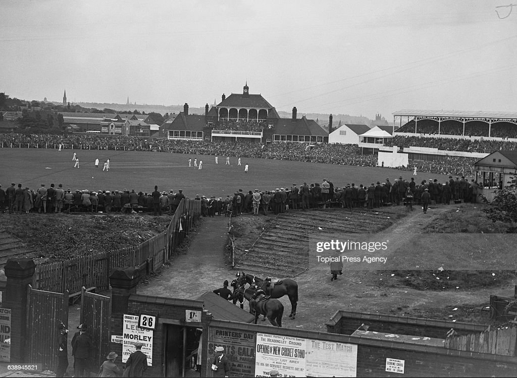 A general view of the 3rd Test between England and Australia at Headingley Leeds 10th13th July 1926