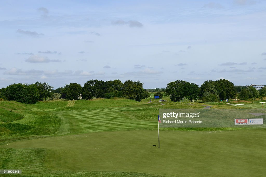 General View of the 4th hole during a pro-am round ahead of the 100th Open de France at Le Golf National on June 29, 2016 in Paris, France.