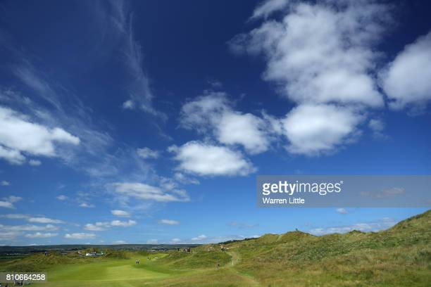 General View of the 4th hole during day three of the Dubai Duty Free Irish Open at Portstewart Golf Club on July 8 2017 in Londonderry Northern...