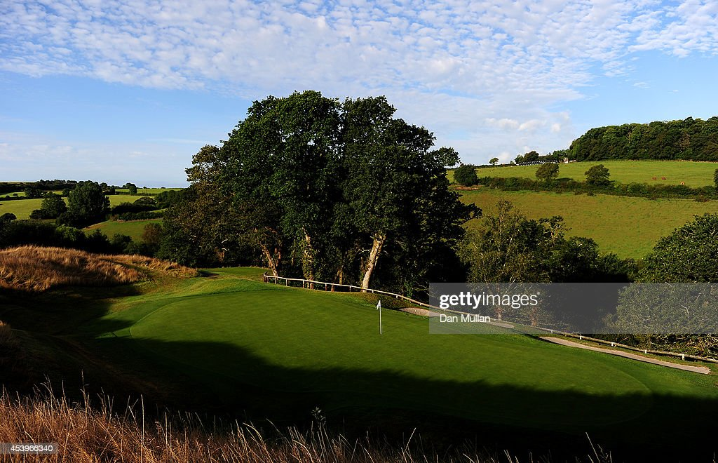 A general view of the 4th hole during day three of the Golfbreakscom PGA Fourball Championship at St Mellion International Resort on August 22 2014...