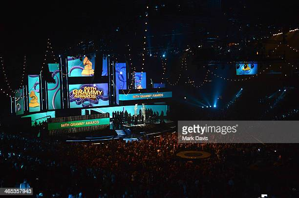 A general view of the 56th GRAMMY Awards at Staples Center on January 26 2014 in Los Angeles California