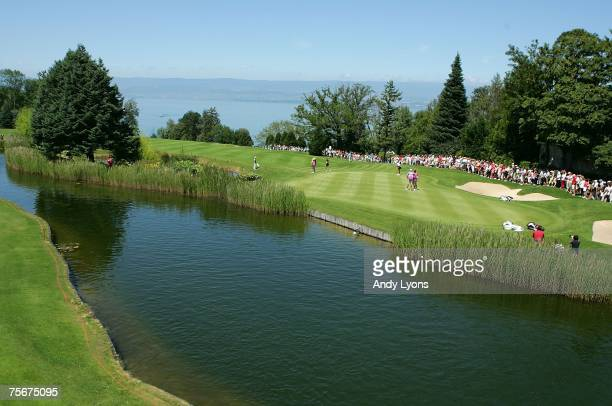 A general view of the 5th green during the first round of The Evian Masters on July 26 2007 in Evian France