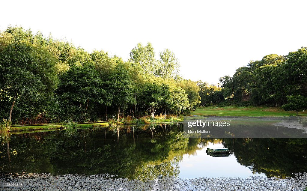 A general view of the 5th hole during day three of the Golfbreakscom PGA Fourball Championship at St Mellion International Resort on August 22 2014...