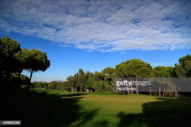 A general view of the 5th hole during the preview day of the Titleist PGA PlayOffs at Antalya Golf Club on November 28 2014 in Antalya Turkey