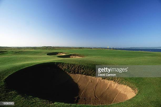 A general view of the 5th hole on Royal Troon golf course on June 1 1996 at the Royal Troon golf course in Ayrshire Scotland