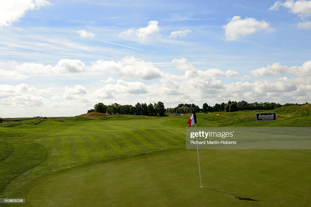 General View of the 6th hole during a pro-am round ahead of the 100th Open de France at Le Golf National on June 29, 2016 in Paris, France.