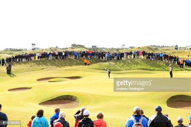 A general view of the 7th green during the first round of the 146th Open Championship at Royal Birkdale on July 20 2017 in Southport England