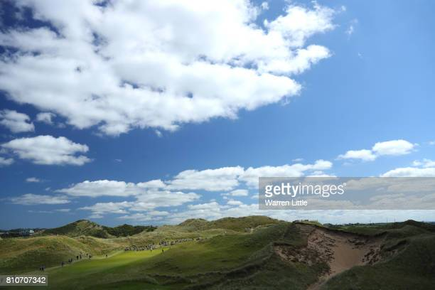 EDITORS NOTE General View of the 7th hole during day three of the Dubai Duty Free Irish Open at Portstewart Golf Club on July 8 2017 in Londonderry...