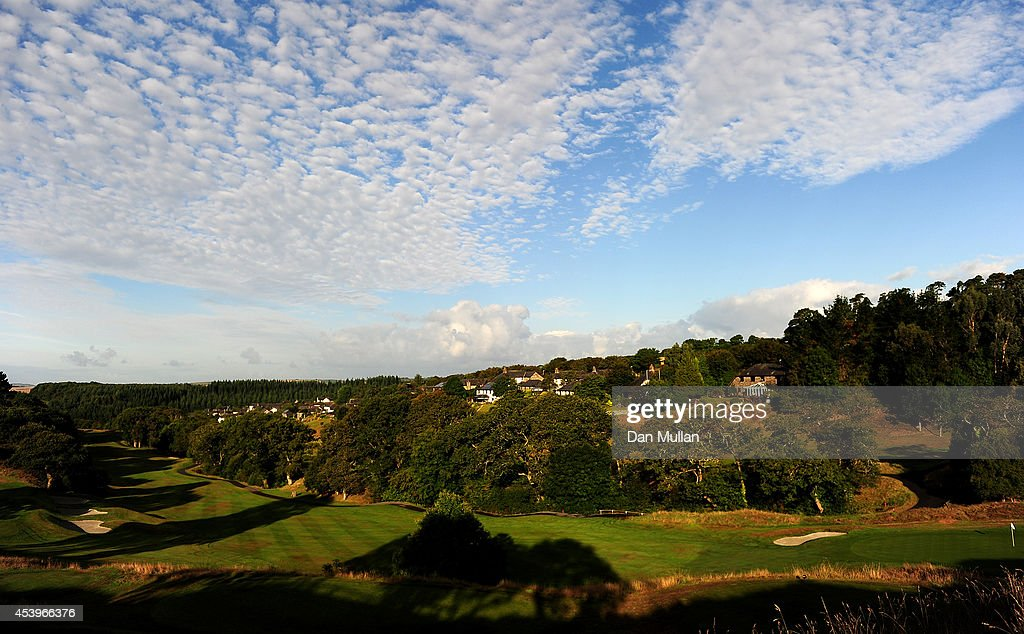 A general view of the 7th hole during day three of the Golfbreaks.com PGA Fourball Championship at St. Mellion International Resort on August 22, 2014 in Saltash, England.