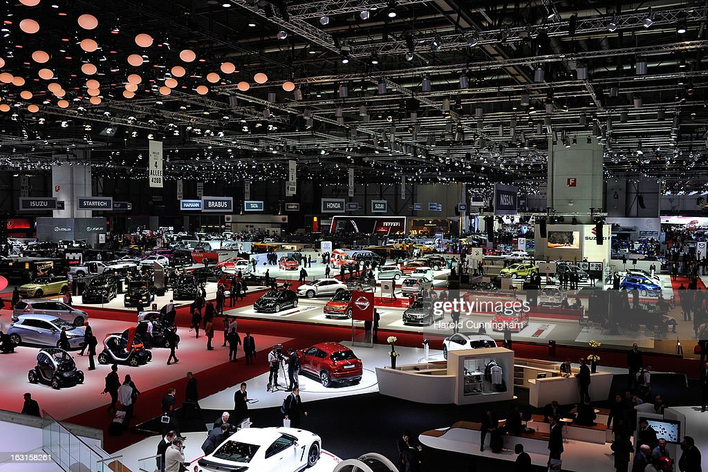 A general view of the 83rd Geneva Motor Show on March 5, 2013 in Geneva, Switzerland. Held annually with more than 130 product premiers from the auto industry unveiled this year, the Geneva Motor Show is one of the world's five most important auto shows.
