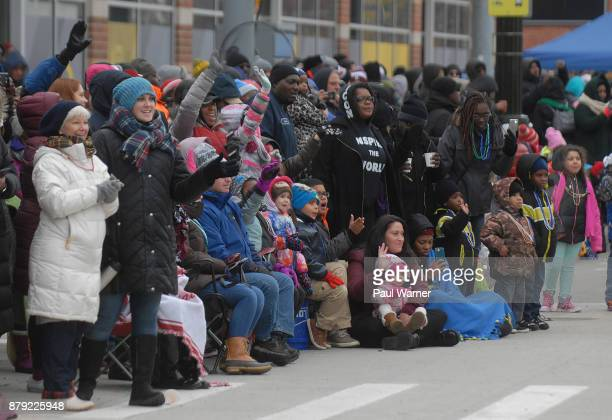 General view of the 91st America's Thanksgivings Day Parade on November 23 2017 in Detroit Michigan