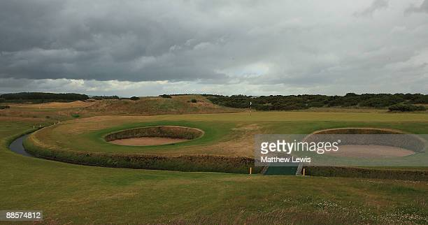 A general view of the 9th green during the Glenmuir PGA Professional Championship at Dundonald Links on June 18 2009 in Dundonald Scotland