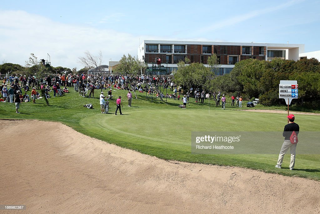 A general view of the 9th green during the second round of the Open de Espana at Parador de El Saler on April 19, 2013 in Valencia, Spain