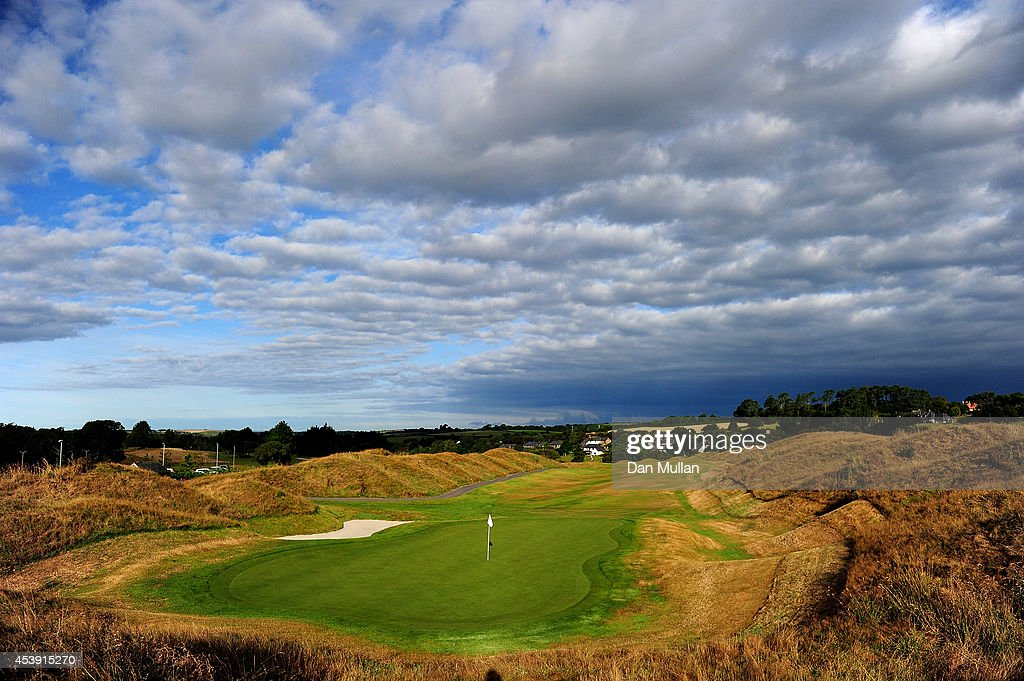 A general view of the 9th hole during day two of the Golfbreaks.com PGA Fourball Championship at St. Mellion International Resort on August 21, 2014 in Saltash, England.