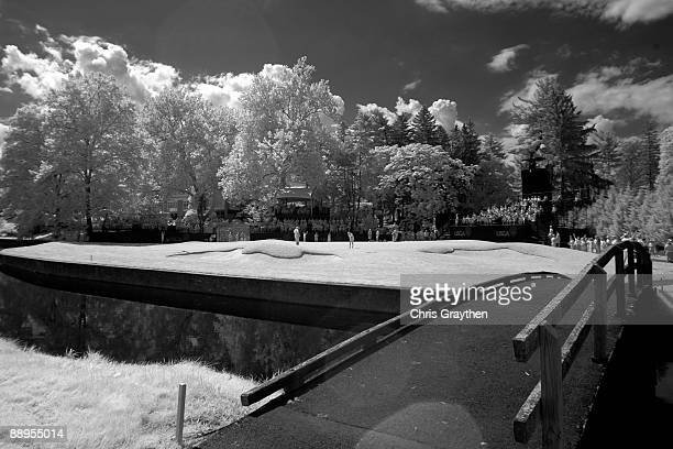 A general view of the 9th hole during the first round of the 2009 US Women's Open at Saucon Valley Country Club on July 9 2009 in Bethlehem...