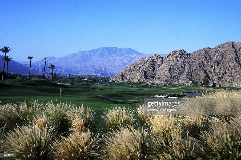General View of the 9th hole on the Mountain course of the LA Quinta resort Golf Course Palm Springs California United States of America