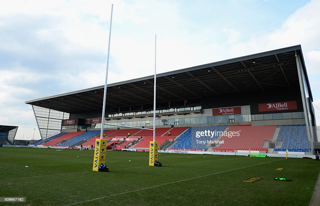 A general view of the A J Bell Stadium prior to the Aviva Premiership match between Sale Sharks and Exeter Chiefs at the A J Bell Stadium on February 13, 2016 in Salford, England