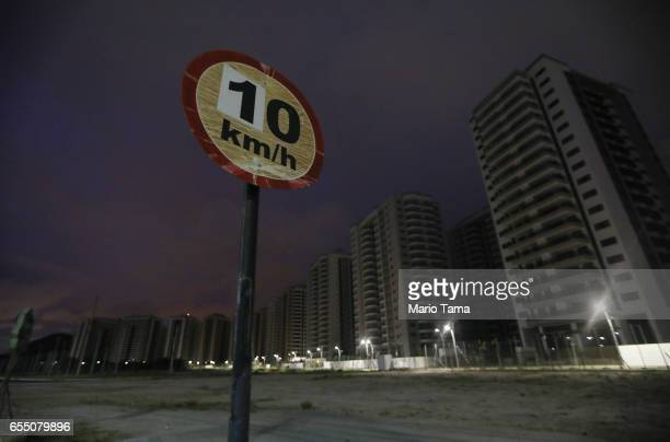 A general view of the abandoned Athlete's Village on March 13 2017 in Rio de Janeiro Brazil Seven months after the Rio hosted the first Olympic games...