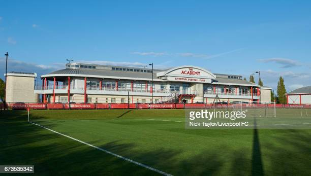 General view of the Academy building before the Liverpool v Rochdale Lancashire Senior Cup SemiFinal at The Kirkby Academy on April 26 2017 in Kirkby...