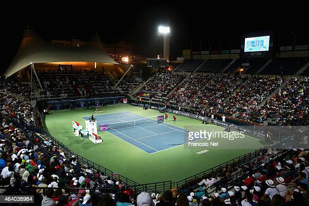 A general view of the action as Simona Halep of Romania plays against Karolina Pliskova of the Czech Republic during their women's final match of the...