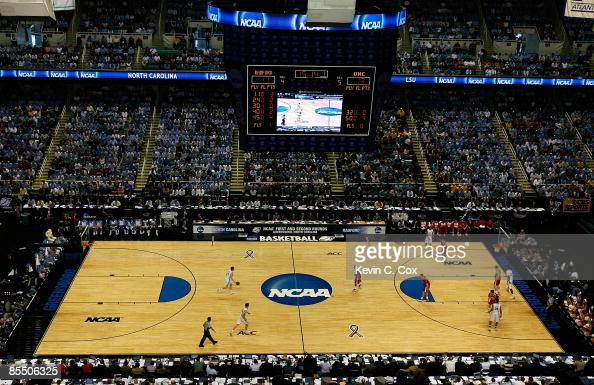 A general view of the action between the North Carolina Tar Heels and the Radford Highlanders during the first round of the NCAA Division I Men's...