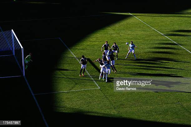 A general view of the action during a friendly match between RC Celta de Vigo and Southampton at Balaidos stadium on August 3 2013 in Vigo Spain