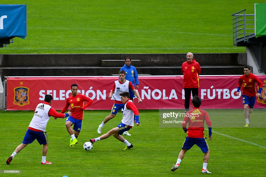 General view of the action during a training session on May 30, 2016 in Schruns, Austria.