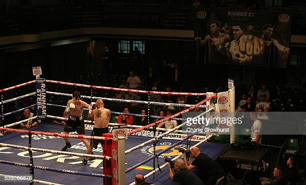A general view of the action during boxing at York Hall on June 10 2016 in London England