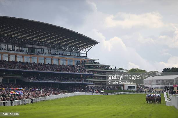 General view of the action during day 1 of Royal Ascot at Ascot Racecourse on June 14 2016 in Ascot England