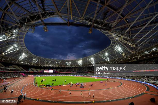 A general view of the action during day three of the IPC World ParaAthletics Championships 2017 at the London Stadium on July 16 2017 in London...