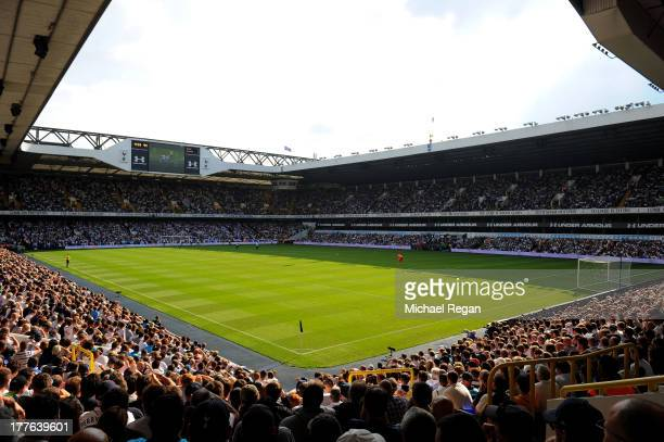 A general view of the action during the Barclays Premier League match between Tottenham Hotspur and Swansea City at White Hart Lane on August 25 2013...