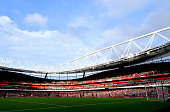 A general view of the action during the Barclays Premier League match between Arsenal and Hull City at Emirates Stadium on October 18 2014 in London...