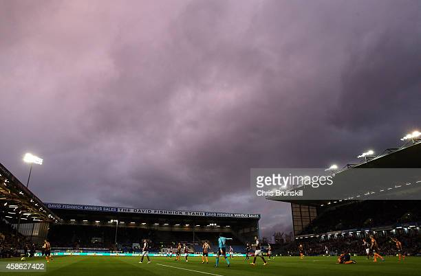 A general view of the action during the Barclays Premier League match between Burnley and Hull City at Turf Moor on November 08 2014 in Burnley...