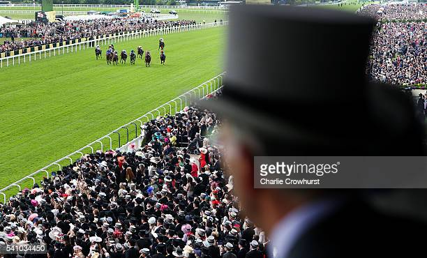 General view of the action during the Chesham Stakes on day 5 of Royal Ascot at Ascot Racecourse on June 18 2016 in Ascot England