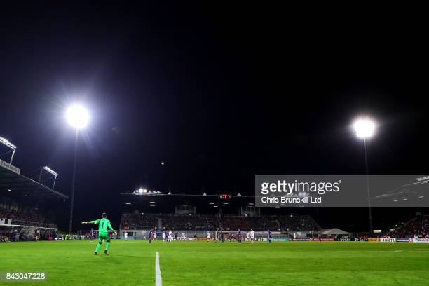 A general view of the action during the FIFA 2018 World Cup Qualifier between Liechtenstein and Spain at Rheinpark Stadion on September 5 2017 in...