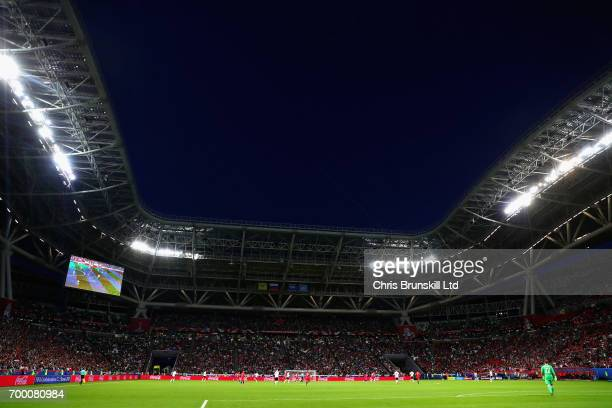 A general view of the action during the FIFA Confederations Cup Russia 2017 Group B match between Germany and Chile at Kazan Arena on June 22 2017 in...