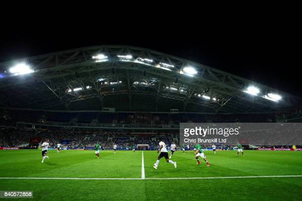 A general view of the action during the FIFA Confederations Cup Russia 2017 SemiFinal match between Germany and Mexico at Fisht Olympic Stadium on...